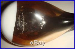 1973 Oiva Toikka Iittala Finland Brown Towhee Glass Bird 43/1500 Hand Made