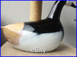 A HUGE sized Barnacle Goose glass bird Oiva Toikka Nuutajärvi Finland Iittala