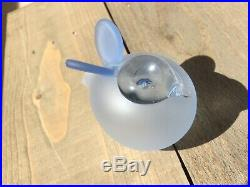 A Wonderful rare creation by Oiva Toikka Nuutajärvi glass bird Baby Blue