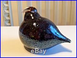 A smaller cool dark Oiva Toikka Nuutajärvi Finland glass bird