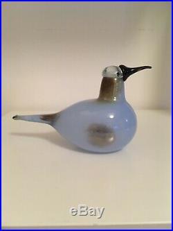 Beautiful Oiva Toikka Nuutajarvi Littala Finland Art Glass Bird Signed