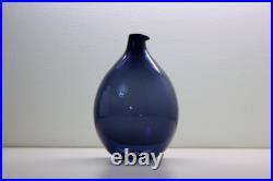 Blue Bird Bottle, Lintupullo, Timo Sarpaneva, glass decanter carafe Iittala