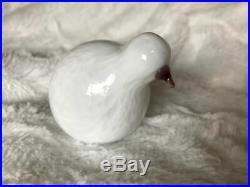 CUTE rare Downy Chick Untuvikko glass bird Oiva Toikka Nuutajärvi Finland