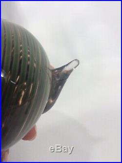 Chipped Underneath Mouth Iittala Finland Oiva Toikka Glass Bird Figurine