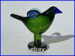 Cieppo With Legs Green 1995 Iittala Bird Oiva Toikka