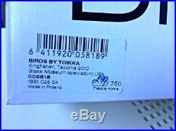 Cool Limited Edition! Kingfisher glass bird 299/750 Oiva Toikka Nuutajärvi NIB