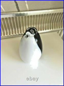 Cute rare old penguine glass bird Oiva Toikka Nuutajärvi Iittala Finland