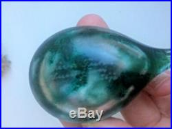 Dark green and clear glass cool colours! Oiva Toikka bird made in Finland