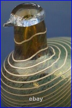 Duck Bird scandinavian glass Toikka iittala design XX as Wirkkalla Sarponeva