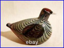Early OIVA TOIKKA Nuutajärvi Notsjö (pre-Iittala) Art Glass Bird Artist Signed