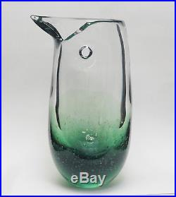 Gargantuan Iittala Studio Art Glass Vase Bird Signed Heikki Vaisanen 17