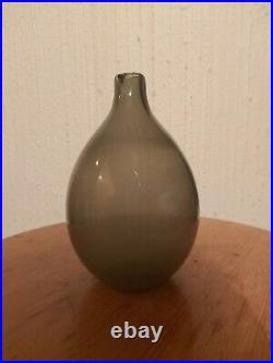 Gray Bird Bottle, Lintupullo, Timo Sarpaneva, glass decanter carafe Iittala