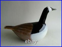 Huge Oiva Toikka Nuutajarvi IIttala Barnacle Goose Glass Bird Limited Edition