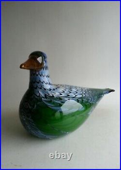 Huge Oiva Toikka Nuutajarvi IIttala Martin Hanhi Goose Glass Bird Limited Editio