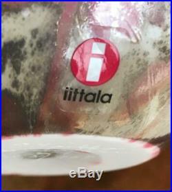 IITTALA LARGE Bird EGG Signed Toikka Nuutajarvi Finland 2008 Art Glass Cucunor