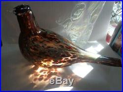 IITTALA O. Toikka GORGEOUS Art Glass FIGURINE BIRD Nuutajarvi FINLAND