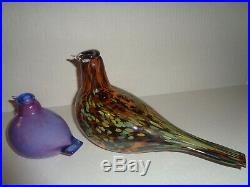 IITTALA O. Toikka GORGEOUS Purple FIGURINE BIRD Nuutajarvi FINLAND