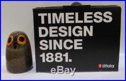 IITTALA Oiva Toikka LITTLE BARN OWL Studio Glass Bird Boxed
