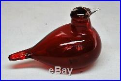 IITTALA /nuutajarvi BIRD BY O. TOIKA. BIRD RED TERN