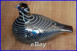 IITTALA /nuutajarvi BIRD BY O. TOIKKA. ALLI LONG TAILED DUCK
