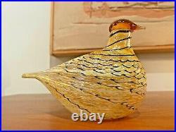 IIttala Toikka Vtg Mid Century Modern Art Glass Summer Grouse Bird Sculpture