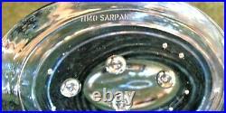 IiTTALA TIMO SARPANEVA Blue OVAL VASE Signed 30cm 2.1kg