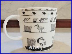 Iittala Arabia Finland OIVA TOIKKA BIRDS 50 Years Anniversary Mug Cup Black Wht