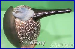 Iittala Art Glass Heron Bird O Toikka Nuutajarv Finland