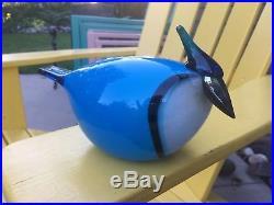 Iittala Art Glass Oiva Toikka Nuutajarvi Canada/finland Heritage Bird 2003