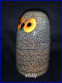 Iittala BARN OWL Glass Birds by Toikka Crystal Figurine/Collectible