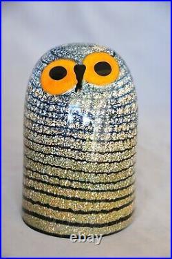 Iittala BARN OWL Glass Birds by Toikka Crystal Figurine/Collectible 6