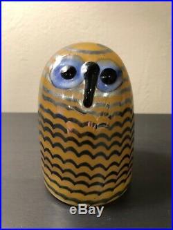 Iittala Bird Oiva Toikka Owl Little Owlet Glass Finland