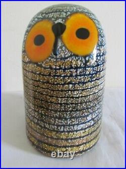 Iittala Birds by OIVA TOIKKA Glass Barn Owl Ornament Finland