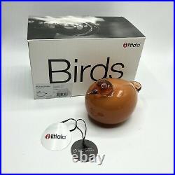 Iittala Birds by Oiva Toikka Kuulas Seville Orange New with Box Never Displayed