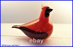 Iittala Birds by Oiva Toikka Red Cardinal made in Finland