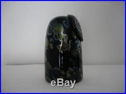 Iittala Birds by Toikka Sooty Owl Signed with original sticker and label