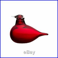 Iittala Birds by Toikka Tern Cranberry Scandinavian Art Glass Signed Mint