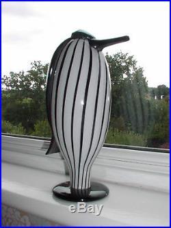 Iittala Finland Art Glass Butler/Hovimestari Bird By Oiva Toikka 1063/2000