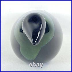 Iittala Finland Art Glass Crow Bird Oiva Toikka Rare Modernist Sculpture vtg