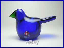 Iittala Finland OIVA TOIKKA Sieppo cobalt blue CATCHER BIRDS BY TOIKKA