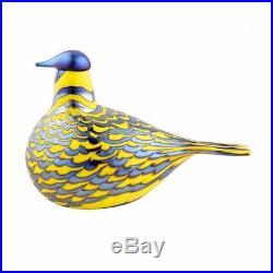 Iittala Finland Oiva Toikka Yellow Grouse Glass Bird, Discontinued, NIB