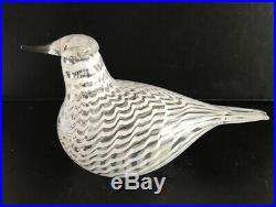 Iittala, Finland glass bird by Toikka Sovinnon Kyyhky-white mediator dove