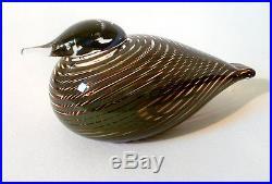 Iittala Glas Vogel Krickente Nuutajärvi glass bird Oiva Toikka verre l'oiseau
