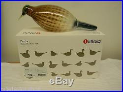 Iittala Nuutajärvi Eurasian Wryneck Bird Design Oiva Toikka Made in Finland