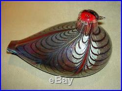 Iittala / Nuutajarvi Oiva Toikka Design Pheasant Glass Bird (8 X 5.5) Sign