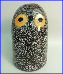 Iittala Nuutajarvi Oiva Toikka Glass Bird Barn Owl, 6 Inches In Height, Signed