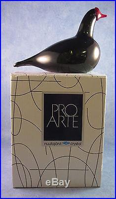 Iittala OIVA TOIKKA Art Glass Bird, Bald Coot, Nokikana, New In Box