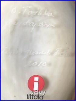 Iittala OIVA TOIKKA Art Glass Bird, Gray Jay, In Great Condition