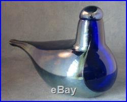 Iittala OIVA TOIKKA Art Glass Bird Night Tern, Limited Edition, New In Box