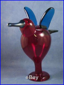 Iittala OIVA TOIKKA, Art Glass Bird, Sieppari, Catcher, New In Original Box